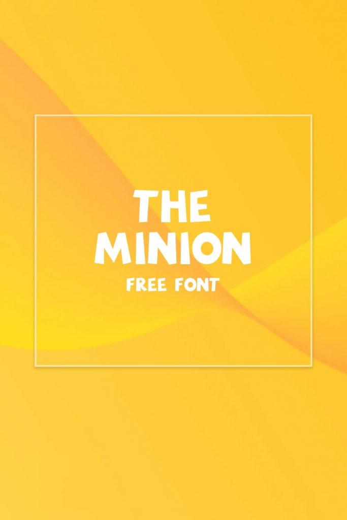Minions Font Free Pinterest Collage Image by MasterBundles.