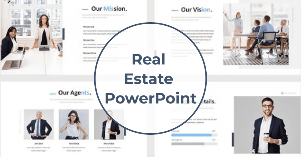 Real Estate Powerpoint Template by MasterBundles Facebook Collage Image.