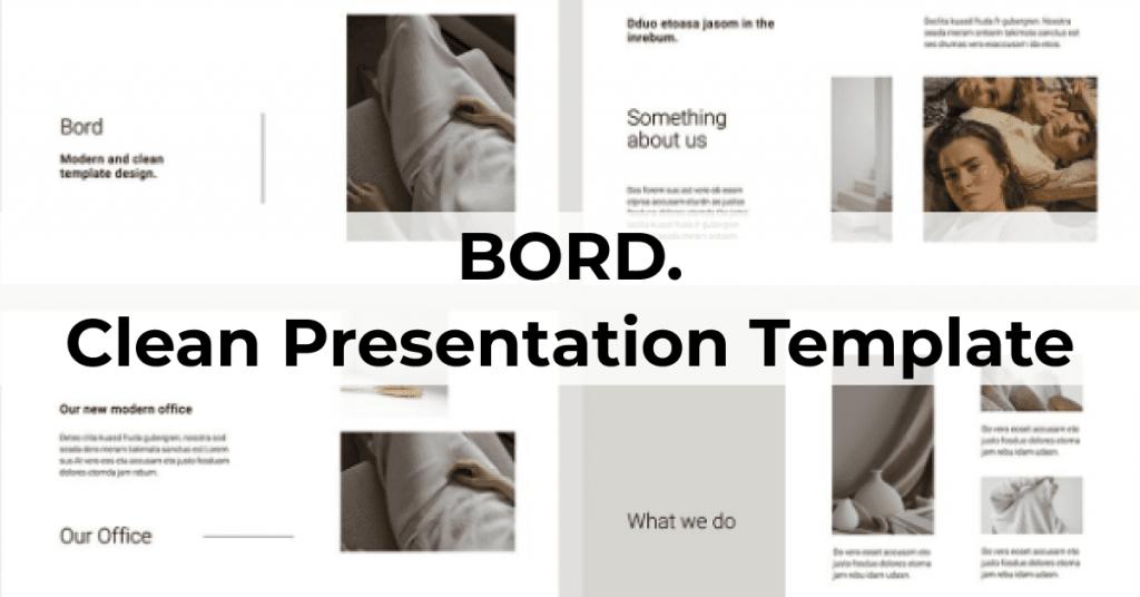 BORD Google Slides Template by MasterBundles Facebook Collage Image.