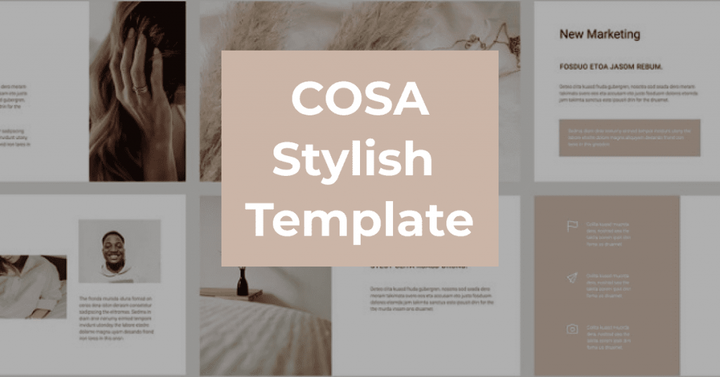 COSA - Keynote Style Template by MasterBundles Facebook Collage Image.