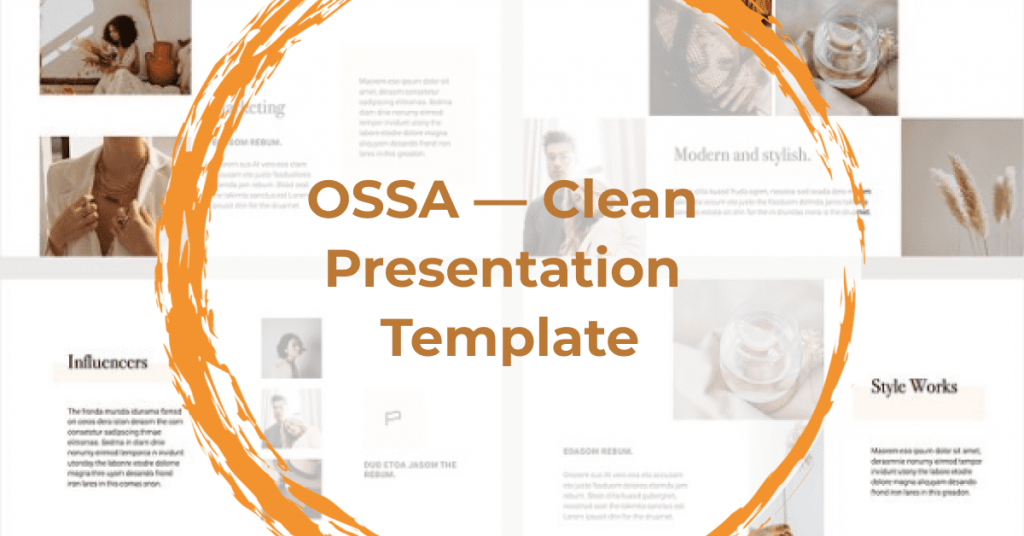OSSA Google Slides Template by MasterBundles Facebook Collage Image.