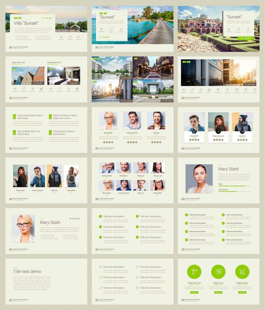 50 Unique slides Real Estate PowerPoint Template.