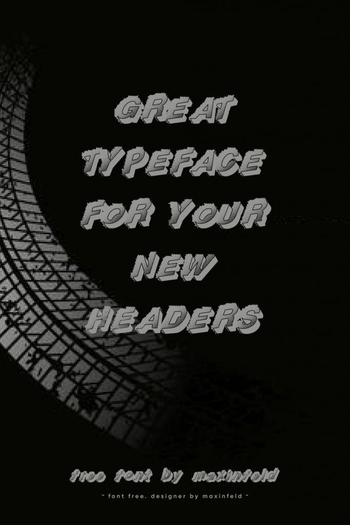 MasterBundles Racing Font Free Pinterest Example Phrase Collage Image.