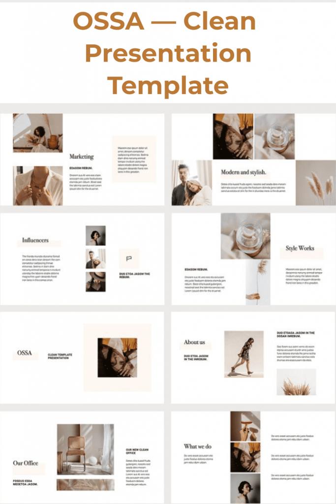 OSSA Google Slides Template by MasterBundles Pinterest Collage Image.