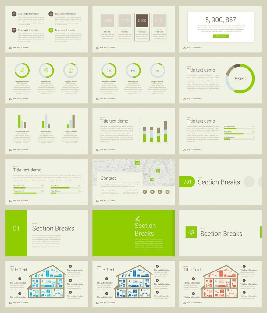 Preview slides Real Estate PowerPoint Template.