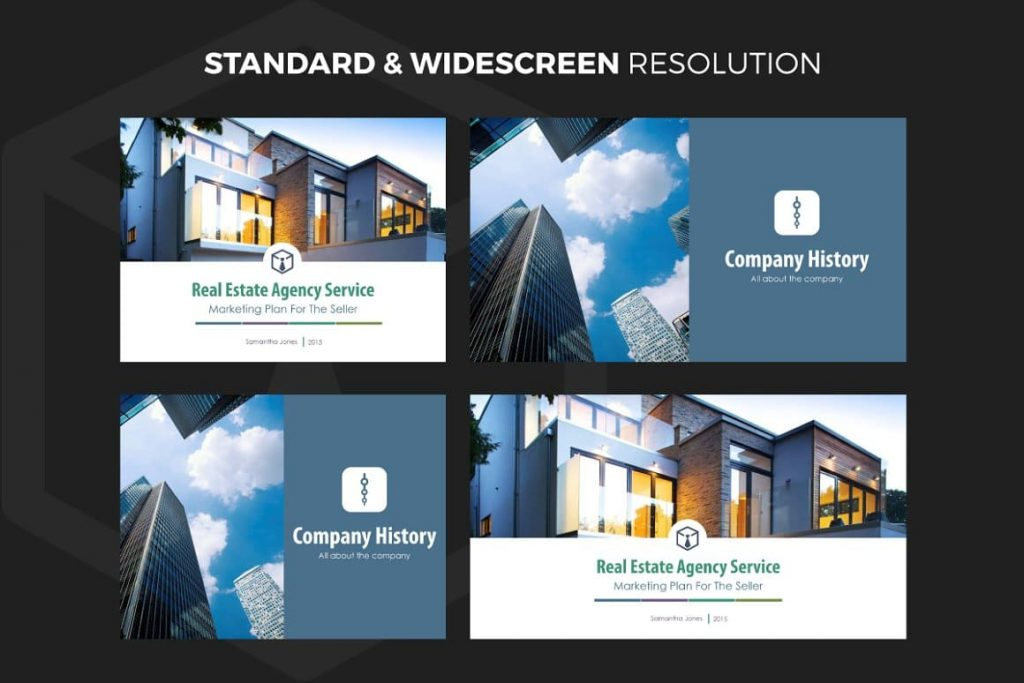 37 easy to customize PowerPoint slides Real Estate PowerPoint Template V.1.