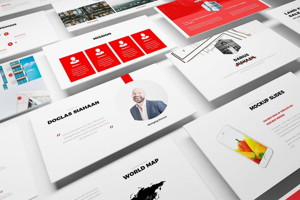 Real Estate Google Slides Template for a minimal and stylish presentation.