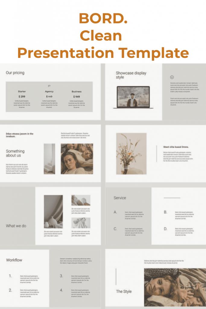 BORD Google Slides Template by MasterBundles Pinterest Collage Image.