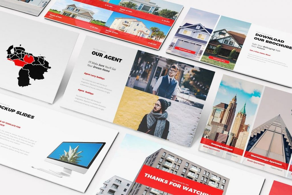 Print Ready Real Estate Google Slides Template.
