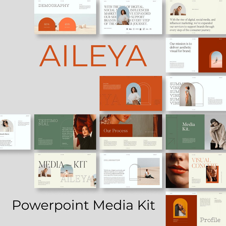 AILEYA - Powerpoint Media Kit by MasterBundles.