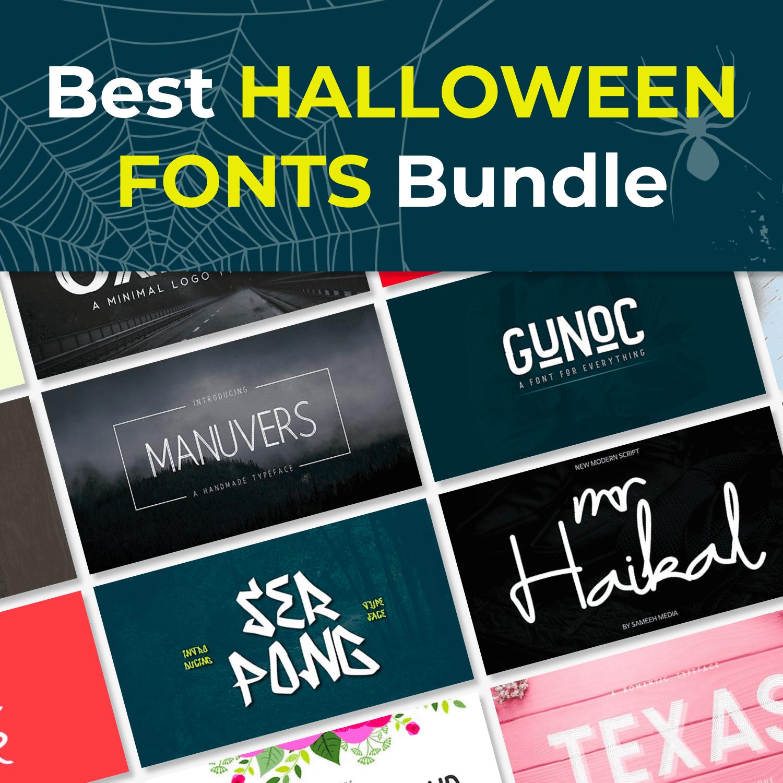 1 Best Halloween FONTS Bundle cover image.
