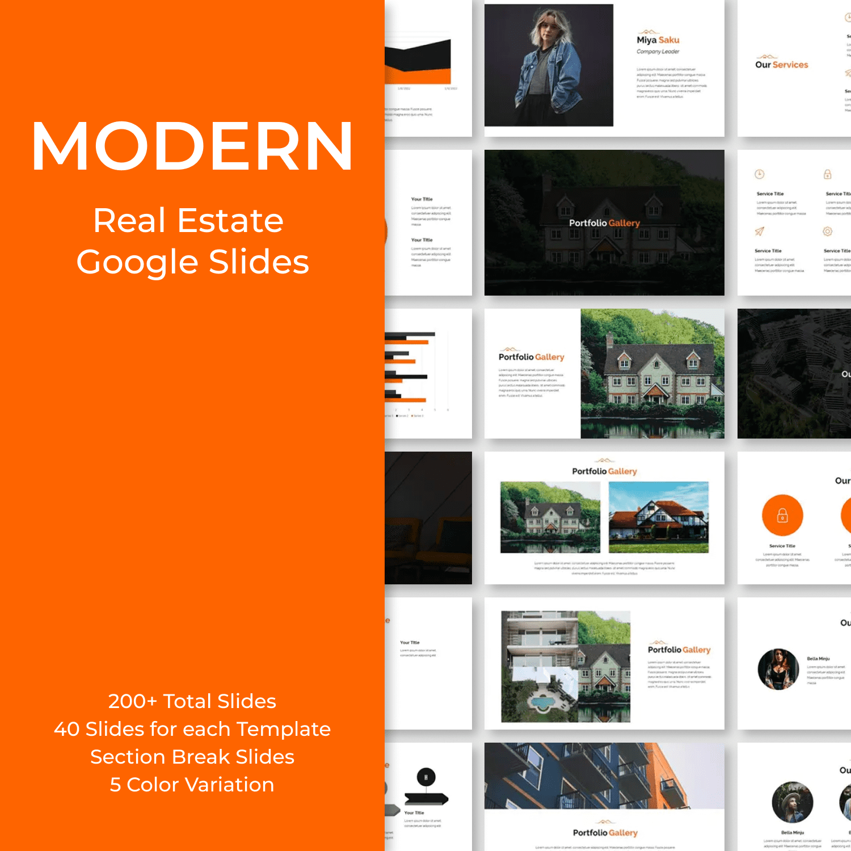Modern Real Estate Google Slides by MasterBundles.