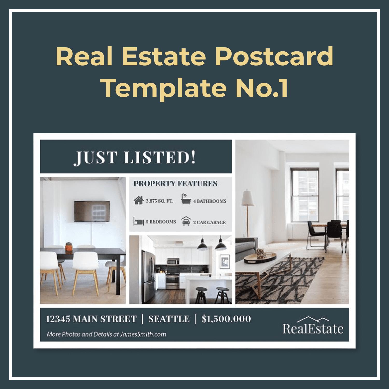 Real Estate Postcard Template No.1 by MasterBundles.