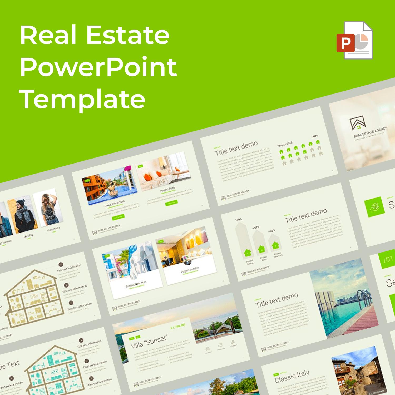 1 Real Estate PowerPoint Template 1500х1500