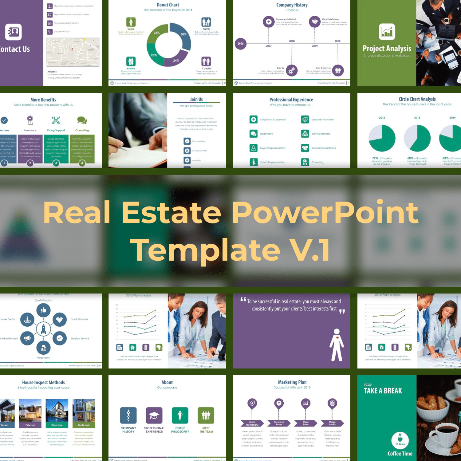 Real Estate PowerPoint Template V.1 by MasterBundles.