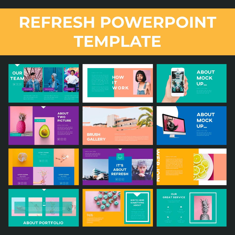 1 Refresh Powerpoint Template 1500х1500