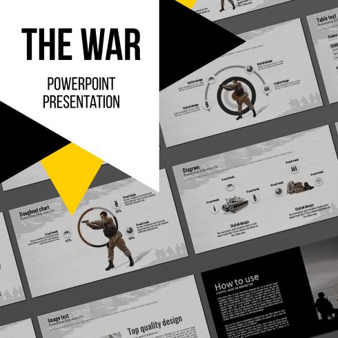 The War Powerpoint Presentation Template by MasterBundles.