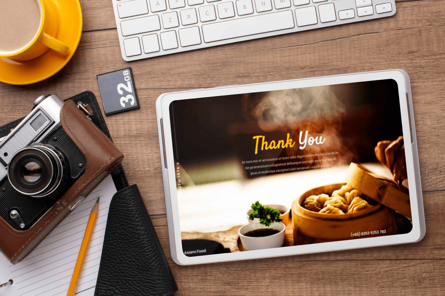 Asians Food - Food PowerPoint by MasterBundles note preview mockup image.