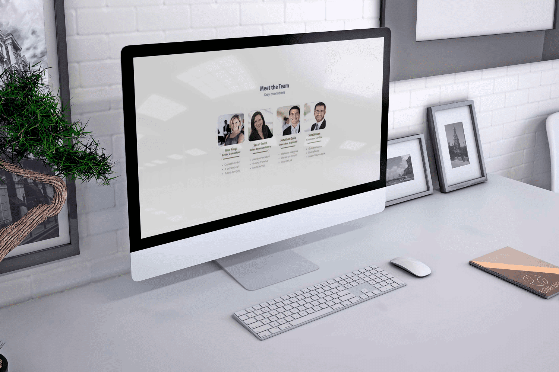Real Estate PowerPoint Template V.1 by MasterBundles Desktop preview mockup image.
