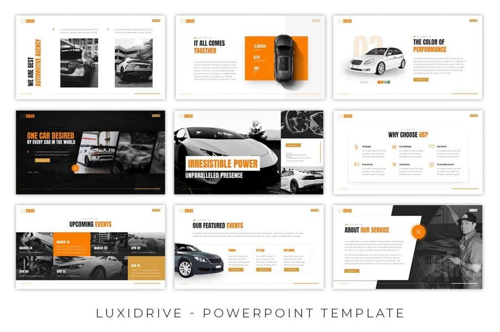 11 Luxidrive Automotive Presentation color schemes.