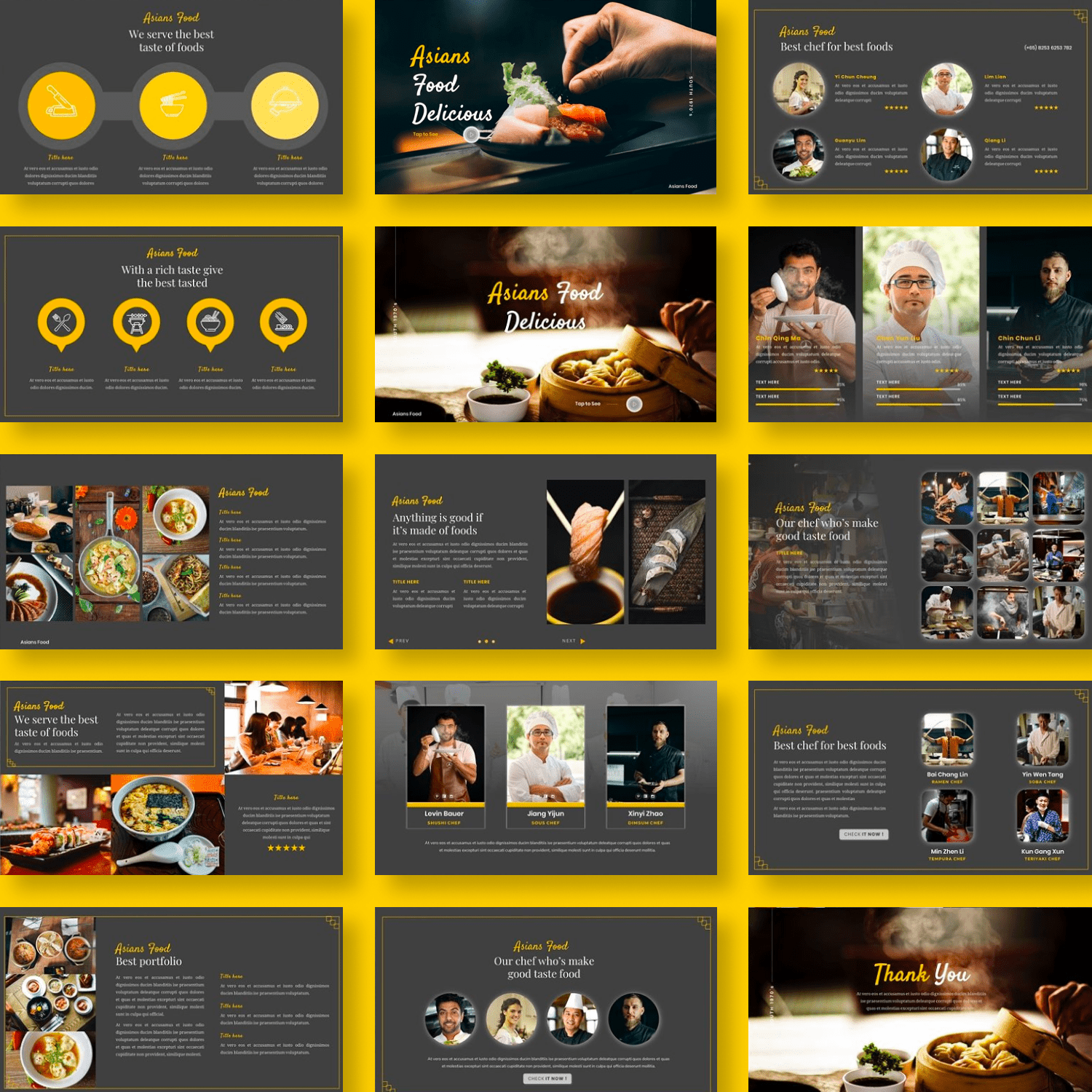 Asians Food - Food PowerPoint by MasterBundles Collage Image.