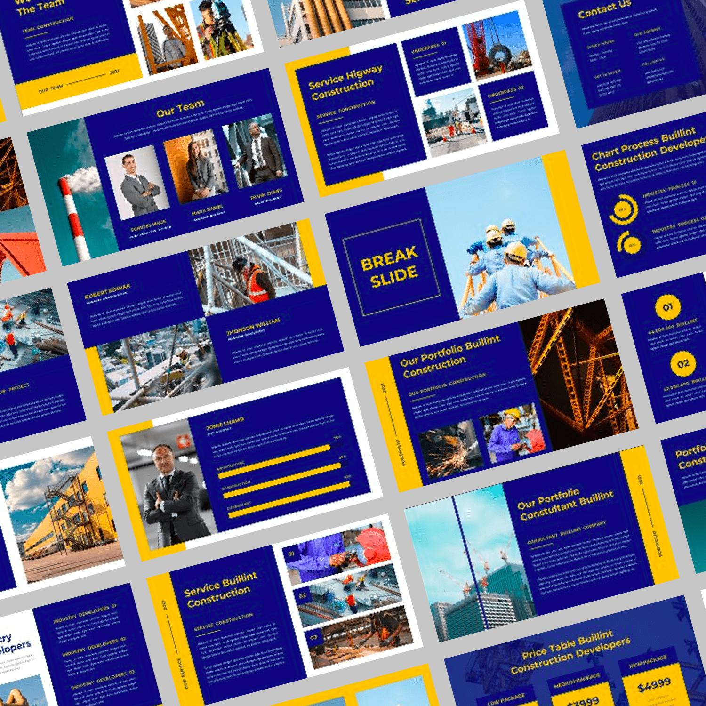 BUILLINT Keynote Template by MasterBundles Collage Image.