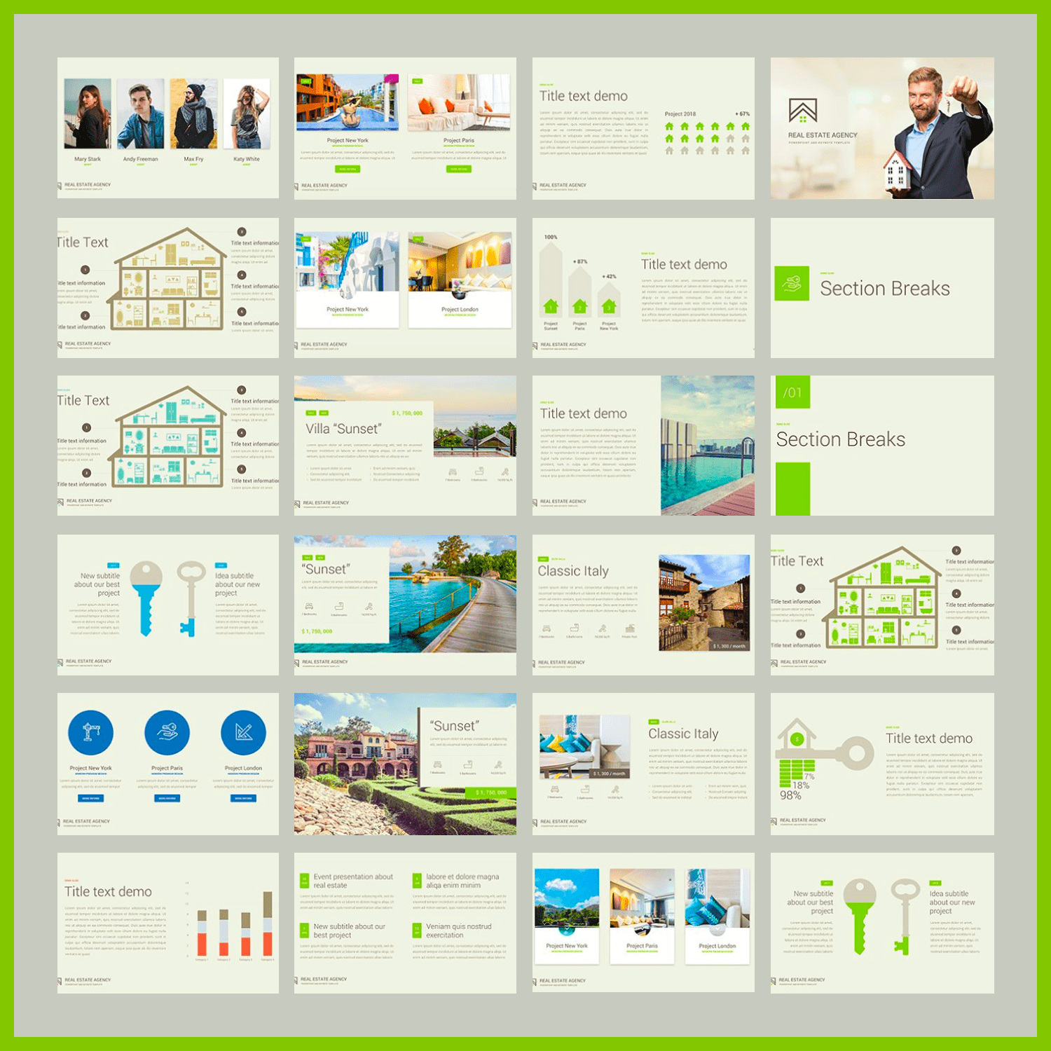 Real Estate PowerPoint Template.