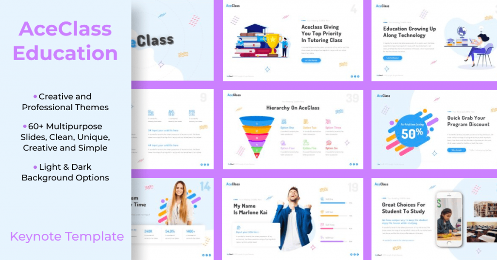 AceClass Education Keynote Template by MasterBundles Facebook Collage Image.