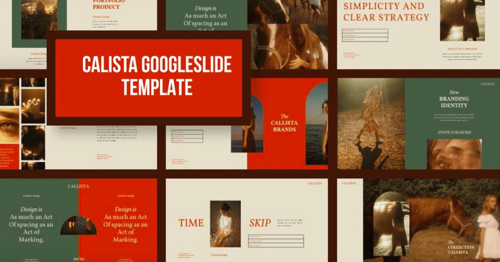 Calista Googleslide Template by MasterBundles Facebook Collage Image.