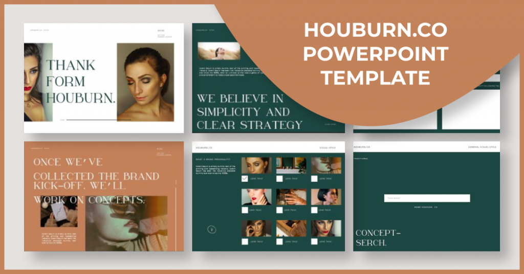 Houburn.CO Powerpoint Template by MasterBundles Facebook Collage Image.
