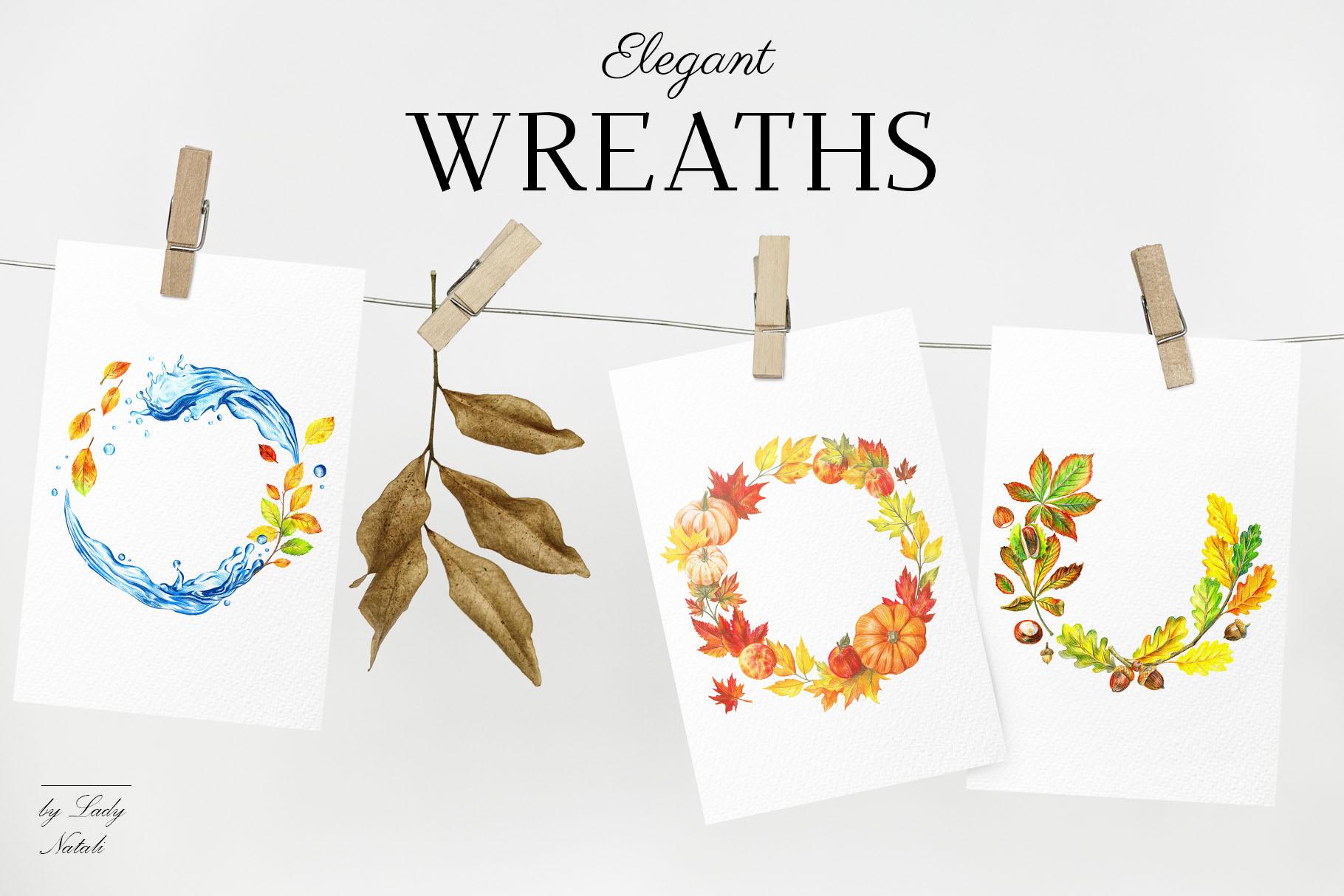 autumn wreaths collection.