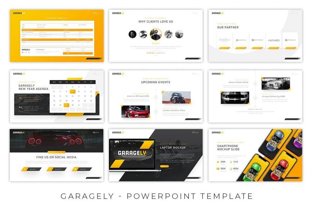 11 Extra Color Scheme Garagely Automotive Presentation.