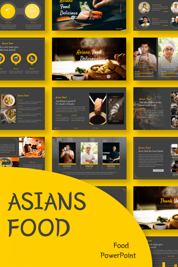 Asians Food - Food PowerPoint by MasterBundles Pinterest Collage Image.