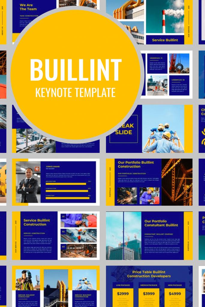 BUILLINT Keynote Template by MasterBundles Pinterest Collage Image.