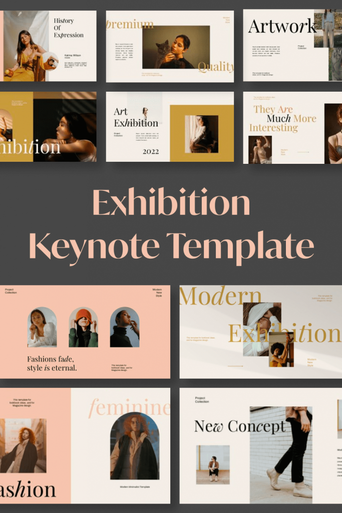 FEUILLA - Powerpoint Template by MasterBundles Pinterest Collage Image.