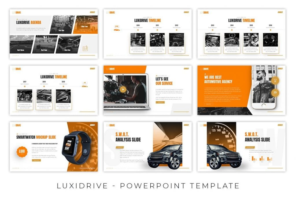 Luxidrive Automotive Presentation creative and professional themes.