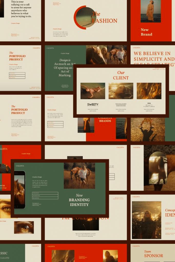 Calista Googleslide Template by MasterBundles Pinterest Collage Image.