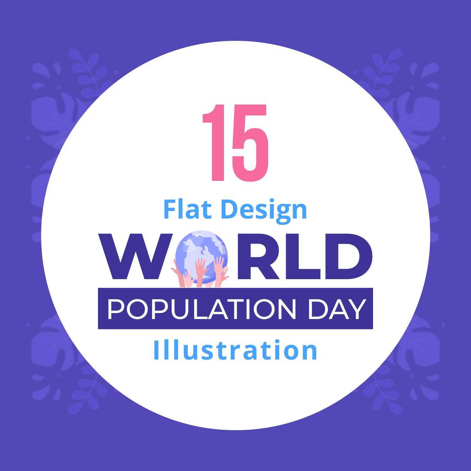 15 World Population Day Illustrations previews image.