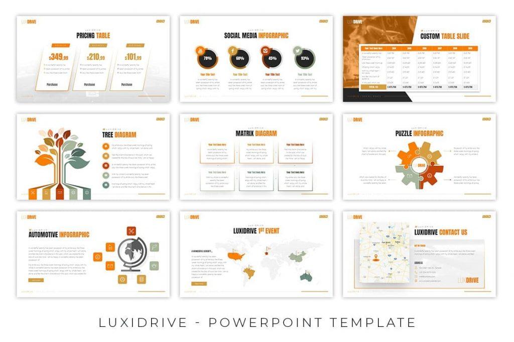 Diagram slides for Luxidrive Automotive Presentation.