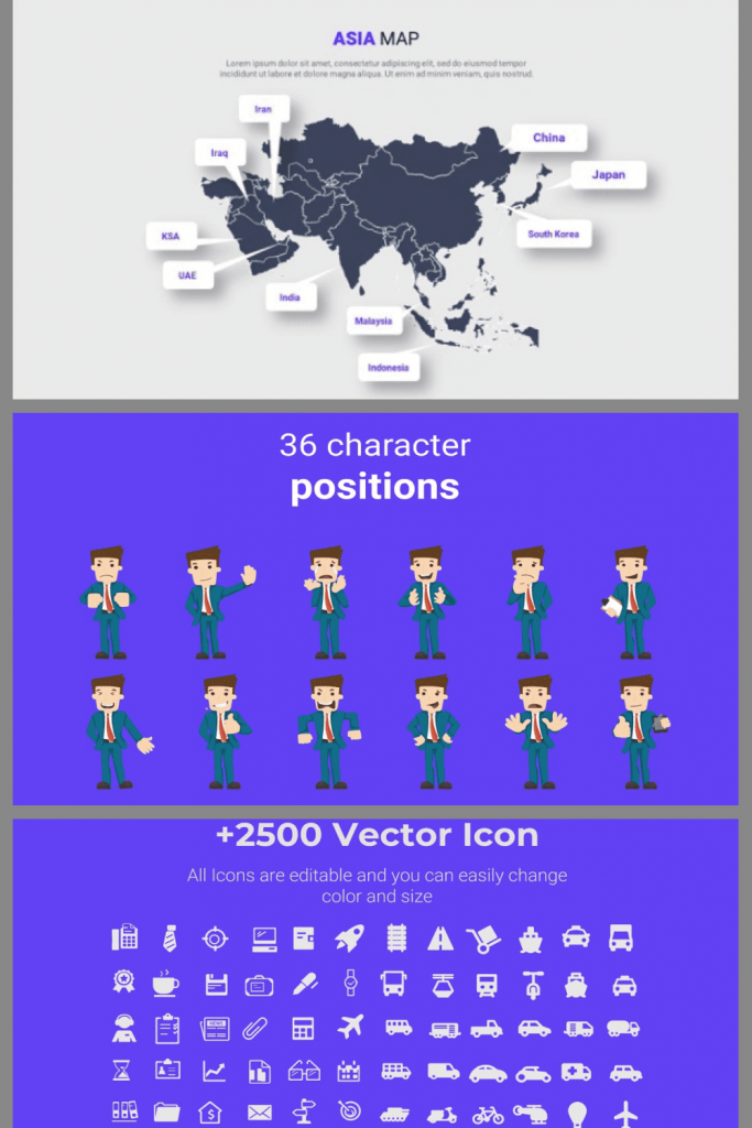 Asia Maps PPTX Presentation Template by MasterBundles Pinterest Collage Image.