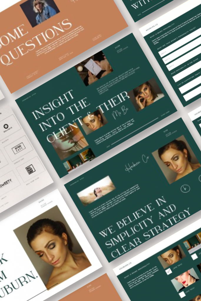Houburn.CO Powerpoint Template by MasterBundles Pinterest Collage Image.