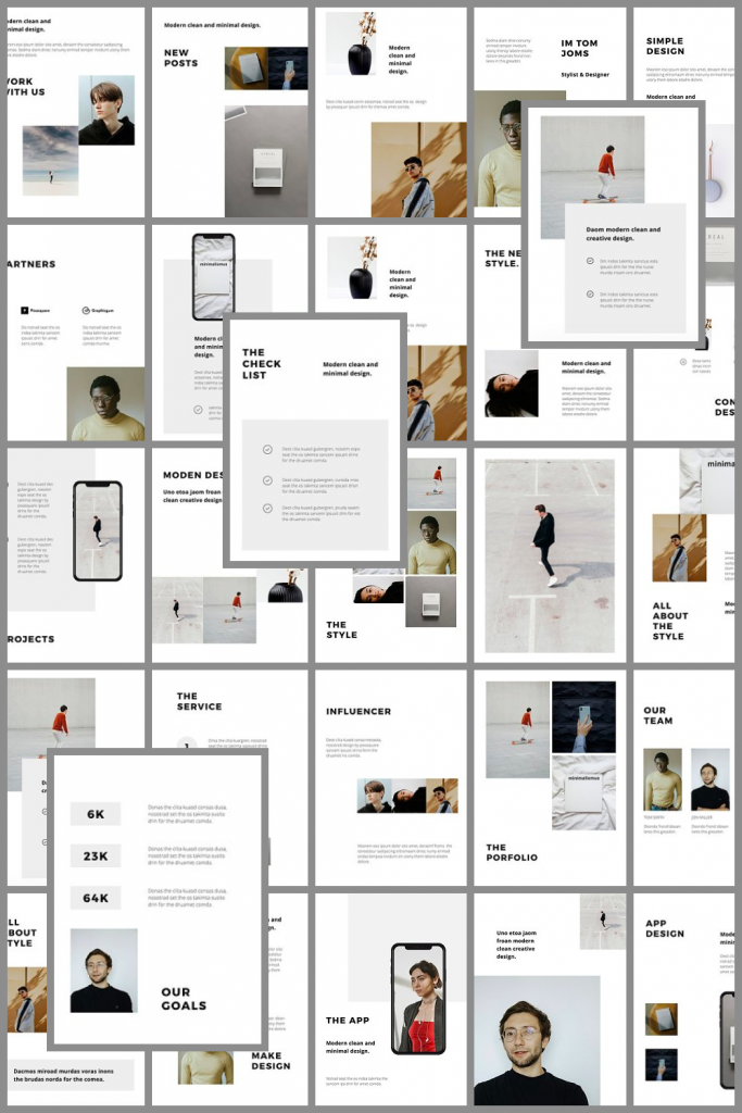 MODEN - Powerpoint Vertical Template by MasterBundles Pinterest Collage Image.
