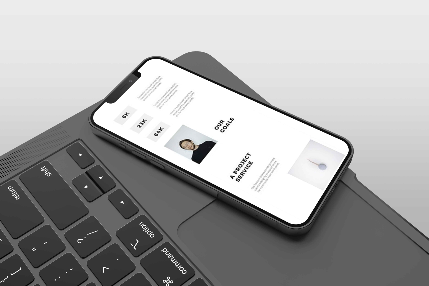 MODEN - Powerpoint Vertical Template by MasterBundles mobile preview mockup image.
