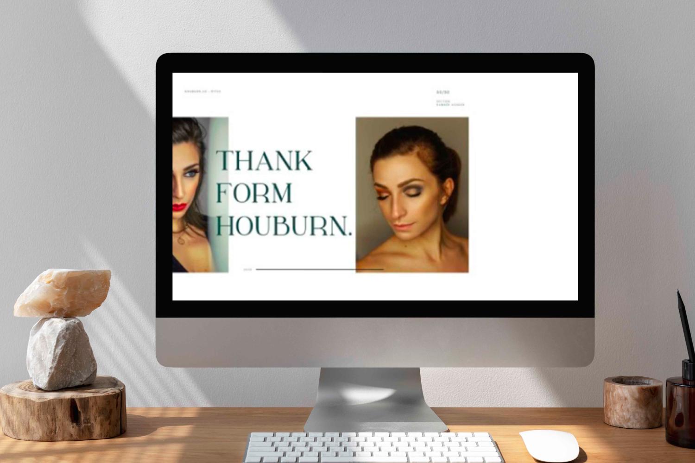Houburn.CO Powerpoint Template by MasterBundles Desktop preview mockup image.