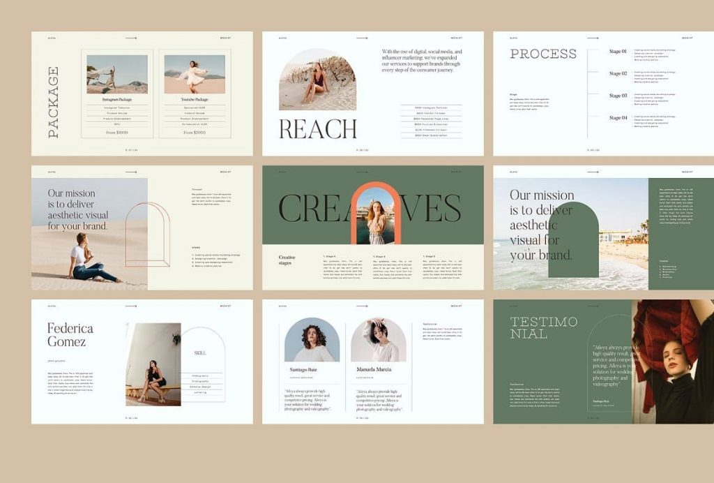 Preview of AILEYA - Powerpoint Media Kit content.