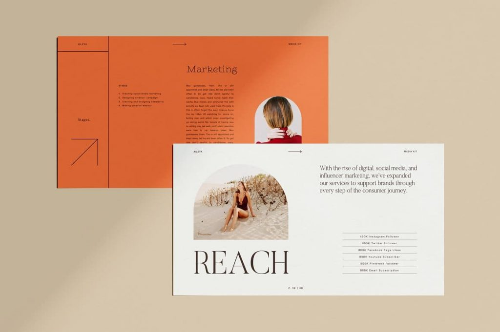 Sample slide content AILEYA - Powerpoint Media Kit.