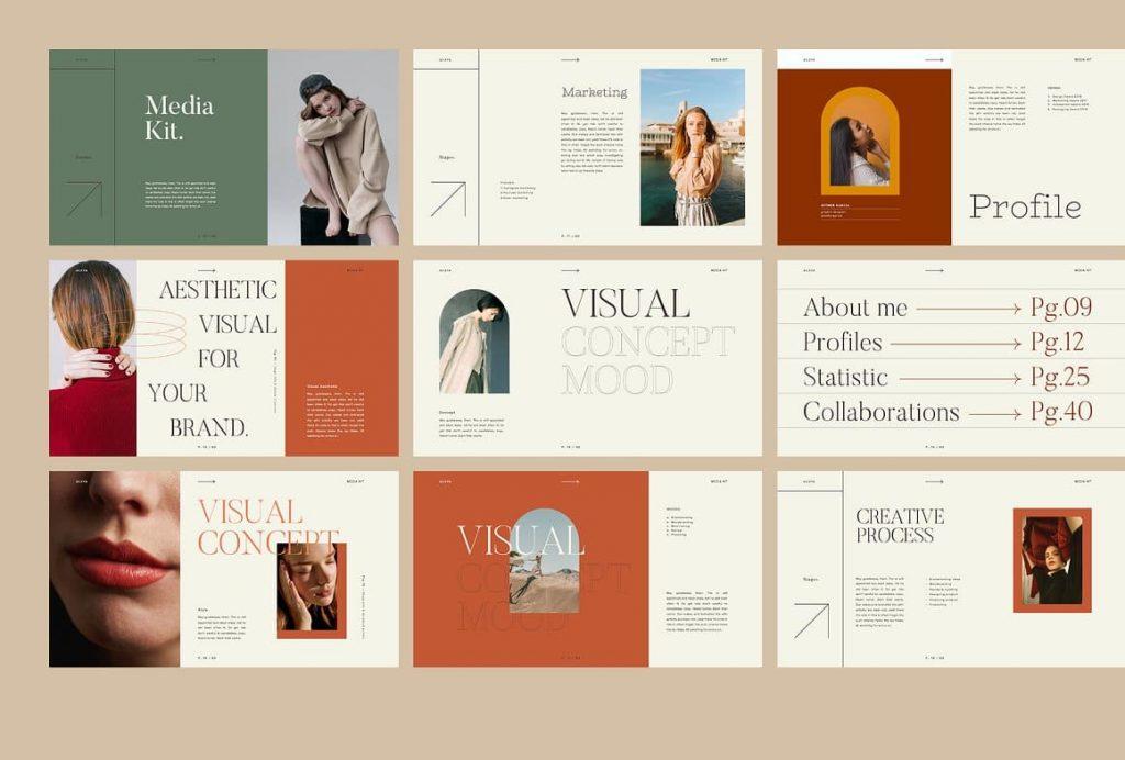 45 unique AILEYA slides - Powerpoint Media Kit.