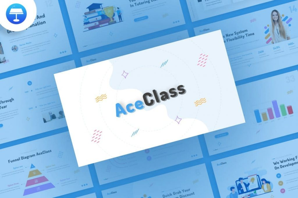 Cover for AceClass Education Keynote Template.