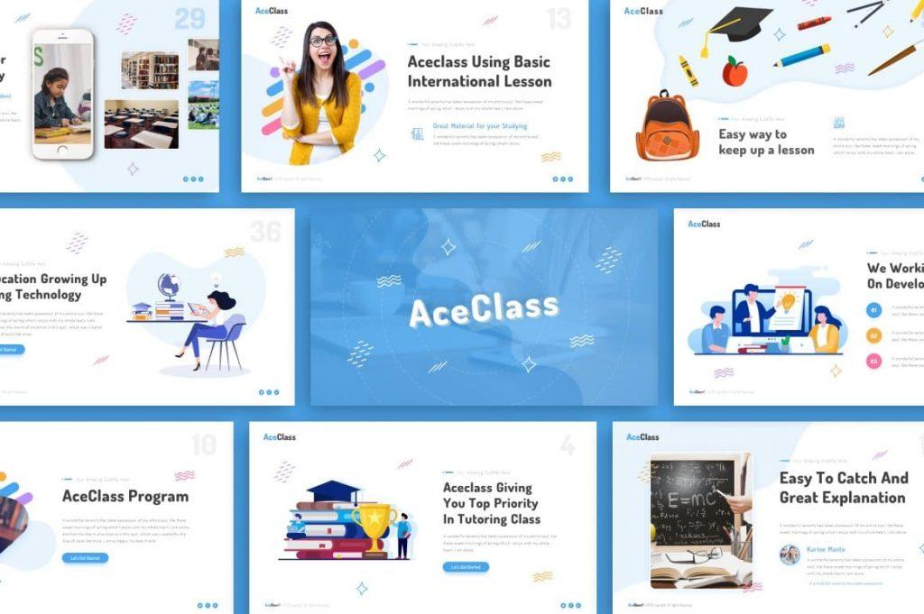 60+ Multipurpose Slides AceClass Education Keynote Template.