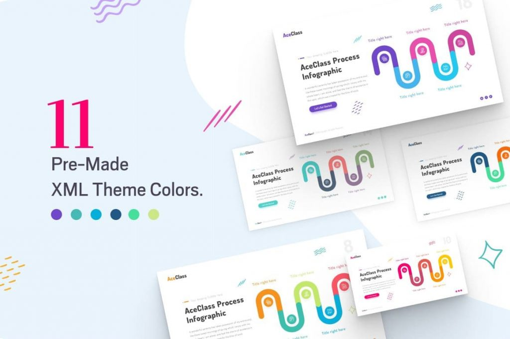 Color Themes for AceClass Education Keynote Template.